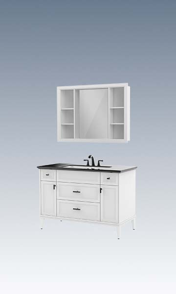 HBT101003N-120 Solid wood bathroom cabinet